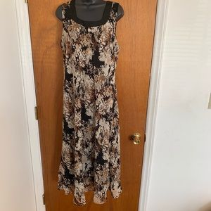 Studio I Size 18 Dress Polyester Black Brown Tan